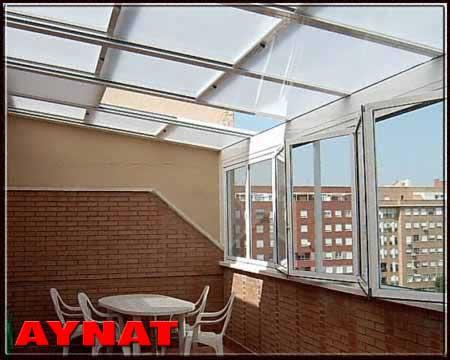 Aynat techos toldos r gidos for Toldos transparentes