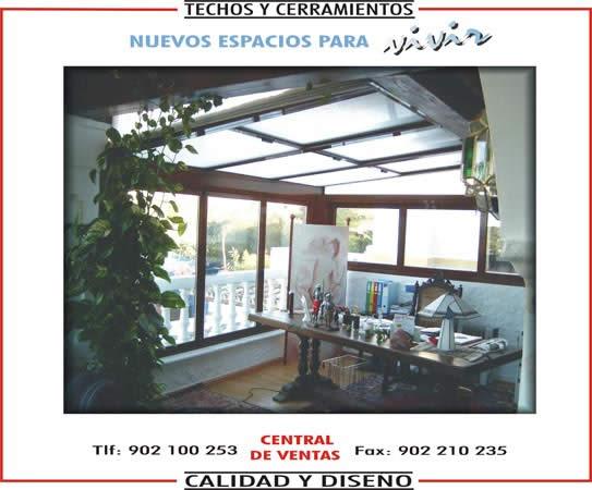 Aynat techos toldos r gidos for Cubiertas transparentes para techos